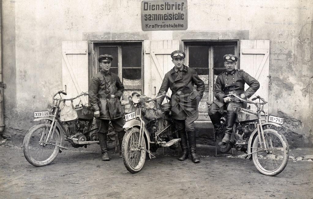 Dienstbrief Sammelstelle der Kraftradstafette