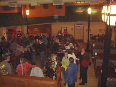 DSC08102 Gathering from above, #photobyAndrewBrown, 12-28-2007 10-14 PM All AHS holiday gathering Olde Main Ames IA #AmesHighClassof1974 #2007dec #AllAHSHolidayGathering #AmesHighClassof1998 #AmesHighClassof1975 #AmesHighClassof1977