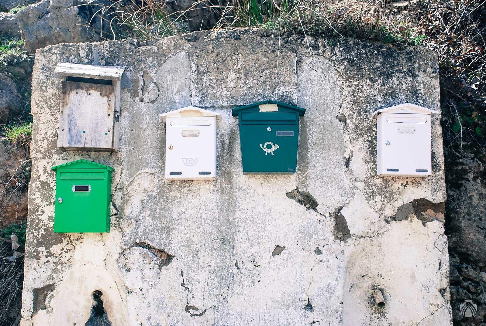 Buzones de correo en los Anchos