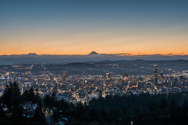 Portland, Oregon Skyline Sunset