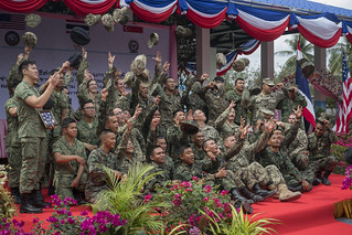 Seabees Complete New School Building with Singapore Army a
