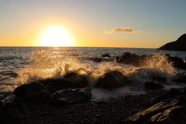 Splash at sunrise