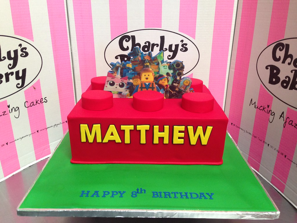 Groovy Lego Block Shaped Birthday Cake With 2D Edible Mounted Pho Flickr Birthday Cards Printable Trancafe Filternl