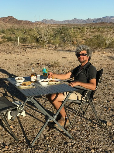 Quartzsite - Pierre with dinner | by Pierre Yeremian