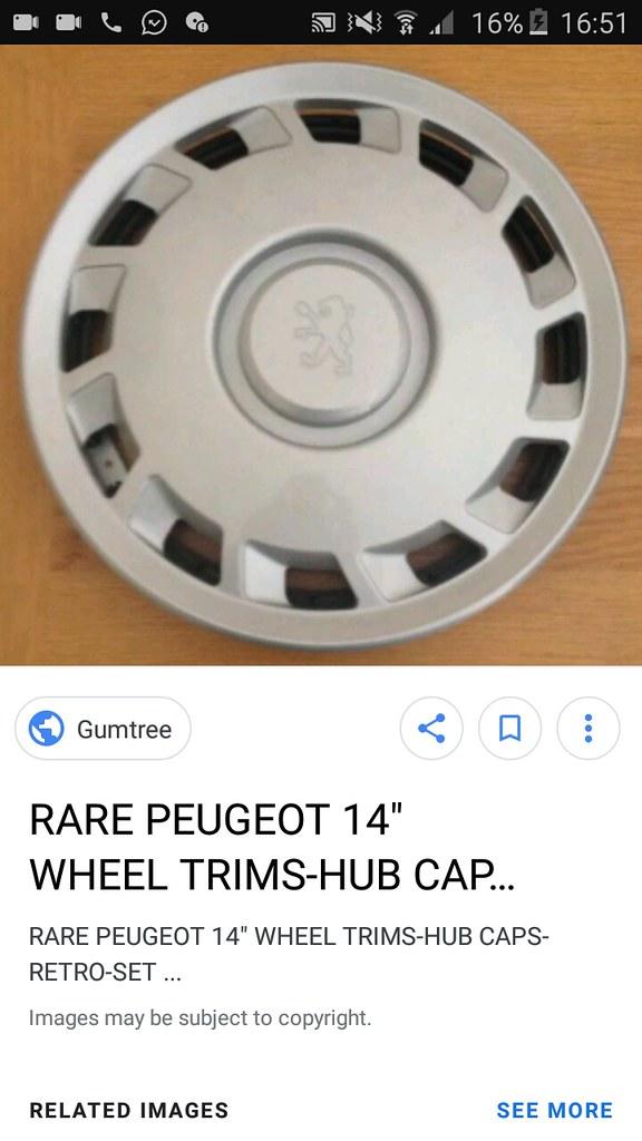peugeot 405 hubcap for sale | should I buy it? no=1 yes=0 | Flickr