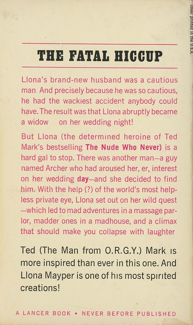 Lancer Books 73-546 - Ted Mark - The Nude Wore Black (back)