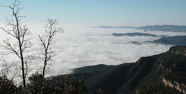 Mar de nubes desde La Mussara