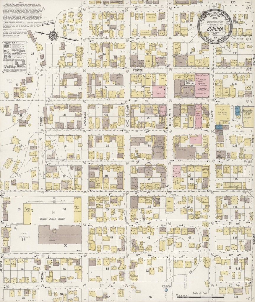 Map Of Arizona Detailed.Sonora Arizona Sanborn Map 1919 A Detailed Map Of Sonor Flickr