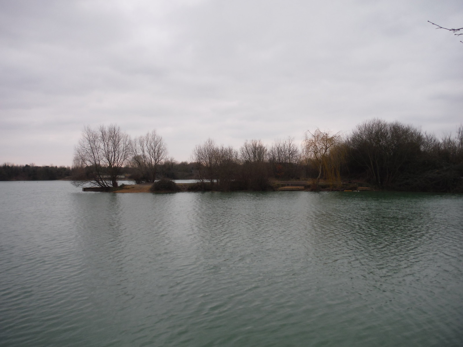 Promontory in Chase Waters, Eastbrookend Country Park SWC Short Walk 33 - Dagenham Parks, Rivers and Ponds