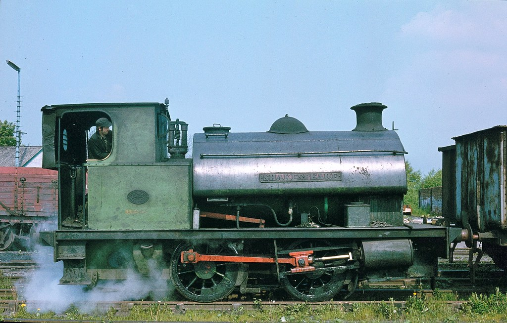 SHAKESPEARE, an 0-4-0ST built by Hawthorne Leslie, Works No.3072 of 1914 seen working at Bersham Colliery near Wrexham. The locomotive was scrapped in 1980. The Colliery was closed in 1986.