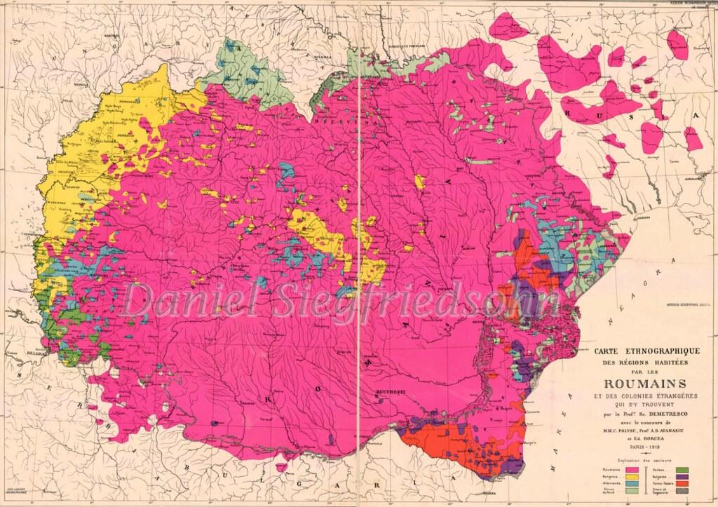 Romania Harta Etnografică A Regiunilor Locuite De Romani Flickr