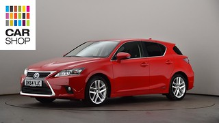 DK64VJC-used-LEXUS-CT-HATCHBACK-200h-1-8-Luxury-5dr-CVT-Auto-PetrolElectric-Hybrid-Automatic-RED-2014-XC-L-10 | by cardiffcarshopcollections