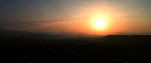 drone sun sunrise sufined pakistan life aerial banigala islamabad hills mountains phantom4pro sky landscape mountain airplane