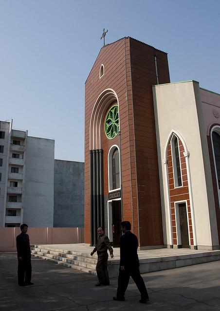 Exterior of changchung cathedral, Pyongan Province, Pyongyang, North Korea