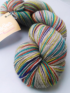 Abi Grasso Self Striping Yak Blend Sock - Hipster Stripe | by ladydanio