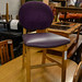 Ex restaurant wood frame purple fabric and leather E35 number in stock