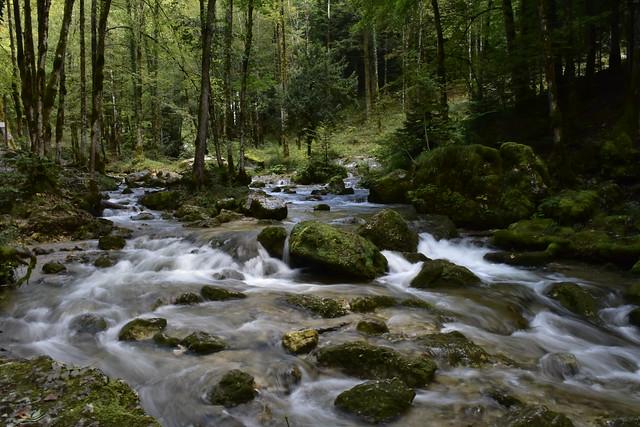 Rivière de la cascade du Hérisson