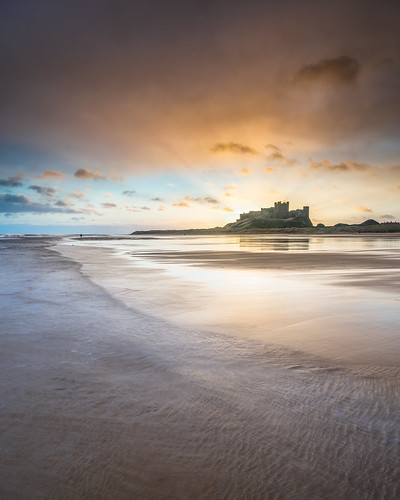 sunrise 2017 bamburgh bamburghcastle northumberland england seascape ocean beach sand castle