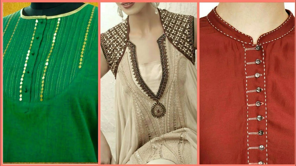 Top Stylish New Neck Designs For Kurta Kurti Frocks Latest Fashion 2018 A Photo On Flickriver