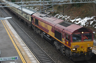 Pathfinders Railtour, with locomotive 66122 working Westbury to Trafford Park Euro Terminal, Manchester