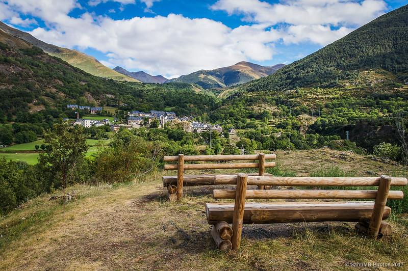 Boí y el Valle de Sant Martí desde el Mirador d'Erill la Vall