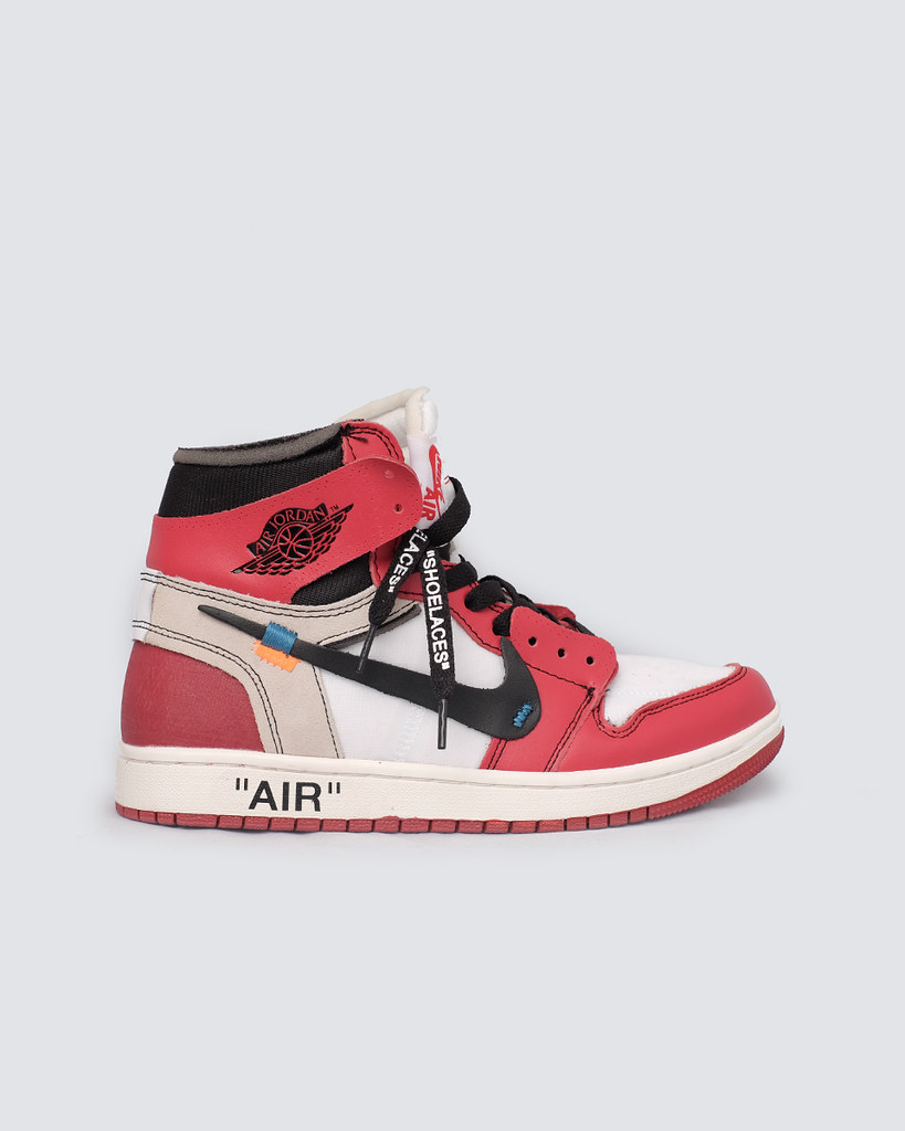 finest selection 4ec93 a8d05 12985- air jordan 1 off white the ten - white red.SIZE 40 ...