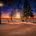 Bishop Park Unbelievable Winter Sky w PHOTOLOGO by 1adamtwelve