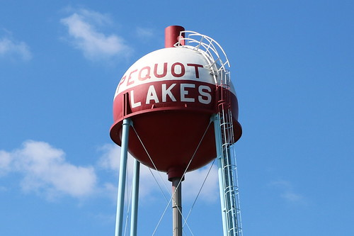 Pequot Lakes bobber water tower | by crystalcolby