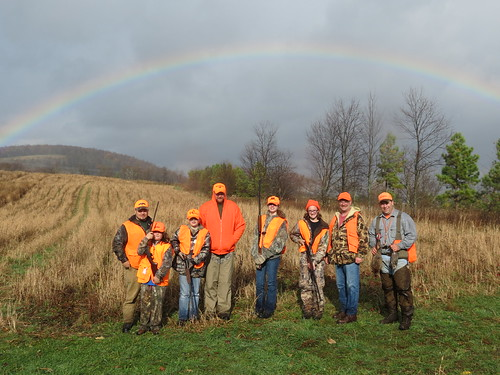 Photo of group at mentored hunt in Garrett County
