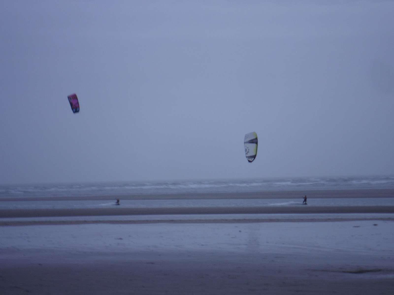 Kite Surfers, West Wittering Beach SWC Walk 167 - New Lipchis Way: Chichester to West Wittering and East Head