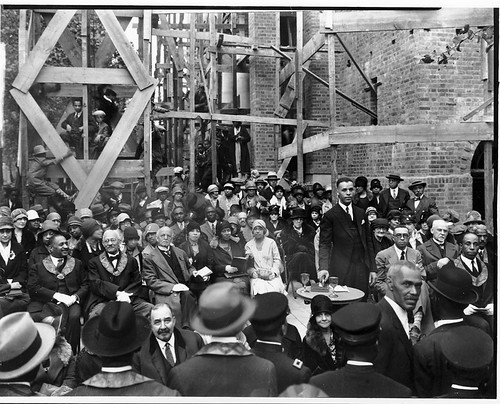 Rev. Brooks at cornerstone ceremony for Lincoln Temple: 1928 | by Washington Area Spark