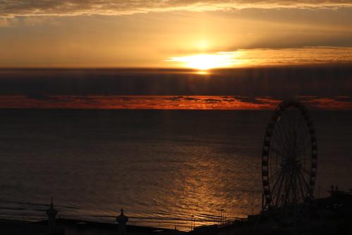 sunriseonchristmas sunrise atlanticcity nj landscape wheel christmas outdoor