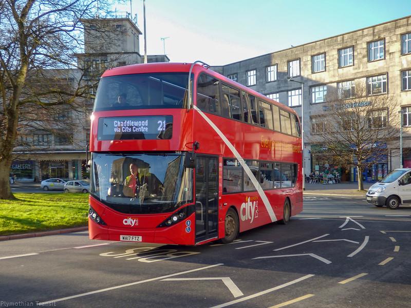 Plymouth Citybus 565 WA17FTZ