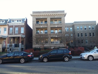 c. 1920s three-story apartment building on the 1300 block of Park Road NW, Columbia Heights