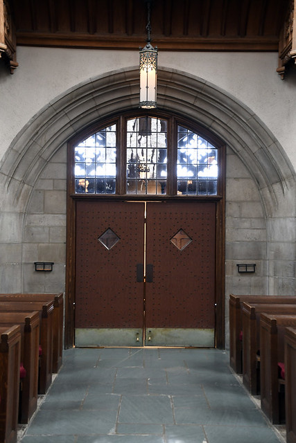 Doors to the foyer from the inside
