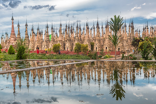 Stupas and decorative htis - Kakku, Myanmar | by Phil Marion