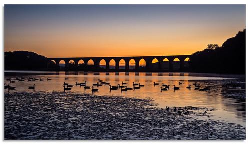 hewenden hewendenreservoir viaduct yorkshire bradford ngc nikonfxshowcase nikkor1635mmf4 water sunrise dawn