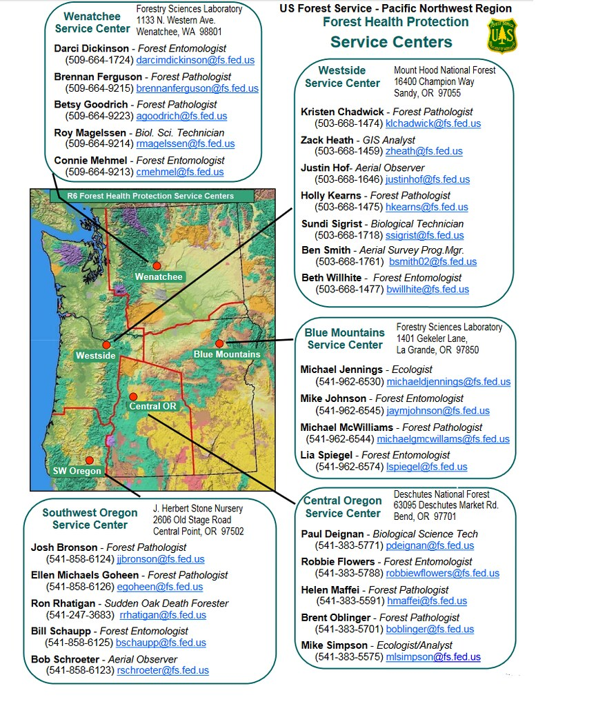 2016 snapshot of Region 6 Forest Health Protection Service