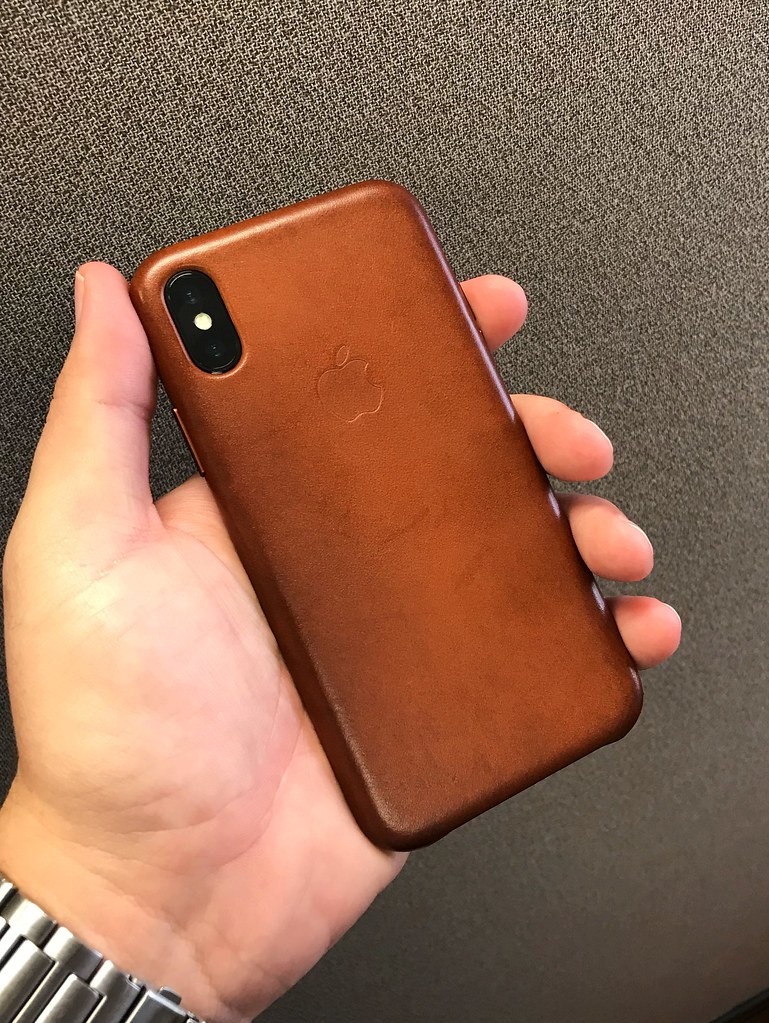 newest collection 70646 1b6af iPhone X | saddle brown leather case and iPhone X. | Yanki01 | Flickr