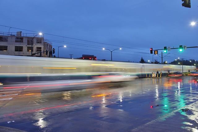 Light rail in Columbia City