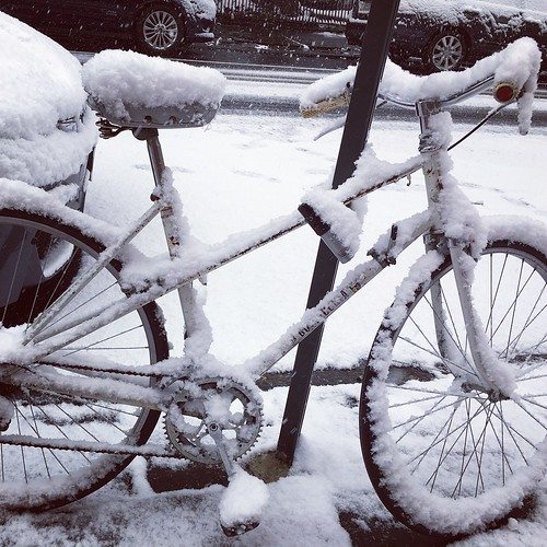 #snow #bicycles #fortgreene #brooklyn | by cisc1970