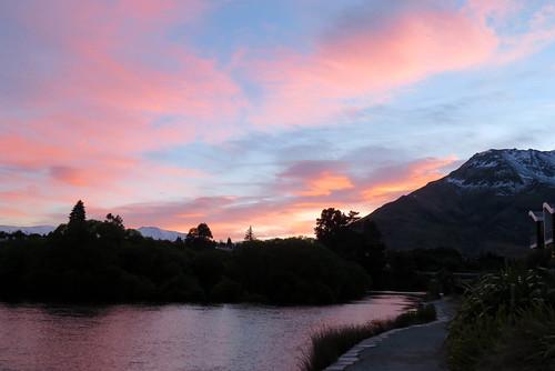 2017 newzealand queenstown sunrise lake wakatipu