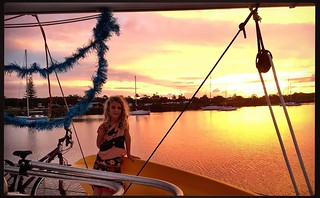 256/365 • finally got a little tree up and threw a bit of tinsel around - the sunset approved • . #yamba #7yo #christmas2017 #7yo #northernnsw #boatlife #visitnsw #abcmyphoto #bellalunaboat #cruising #Summer2017 #eastcoastaustralia #clarenceriver | by miaow