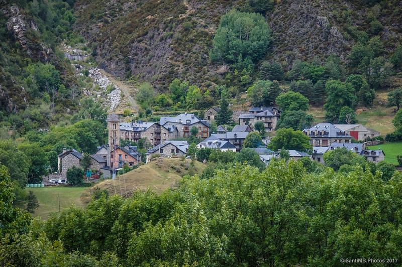 Erill la Vall desde el aparcamiento de Boí