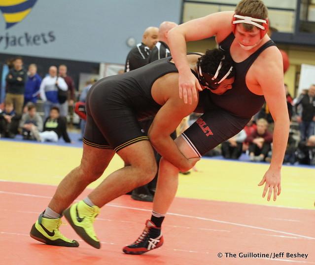 285 Semifinal - Gable Steveson (Apple Valley) 9-0 won by fall over Luke Zaiser (Simley) 13-2 (Fall 0:38) - 171216BJF0499