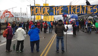 honor the treaties at police line | by Backbone Campaign