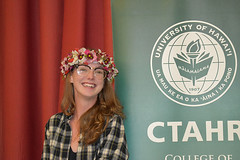 "A CTAHR graduate at the college's convocation ceremony on December 8.  View more photos at CTAHR's Flickr site: <a href=""https://www.flickr.com/photos/ctahr/sets/72157690935002195/with/27241438299/"">www.flickr.com/photos/ctahr/sets/72157690935002195/with/2...</a>"