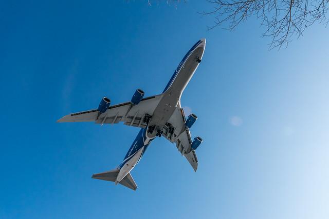 Boeing 747-8F AirBridgeCargo VVO Airport
