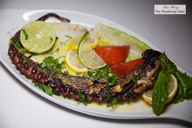 Octopus - Charcoal Grilled, Olive Oil, Lemon