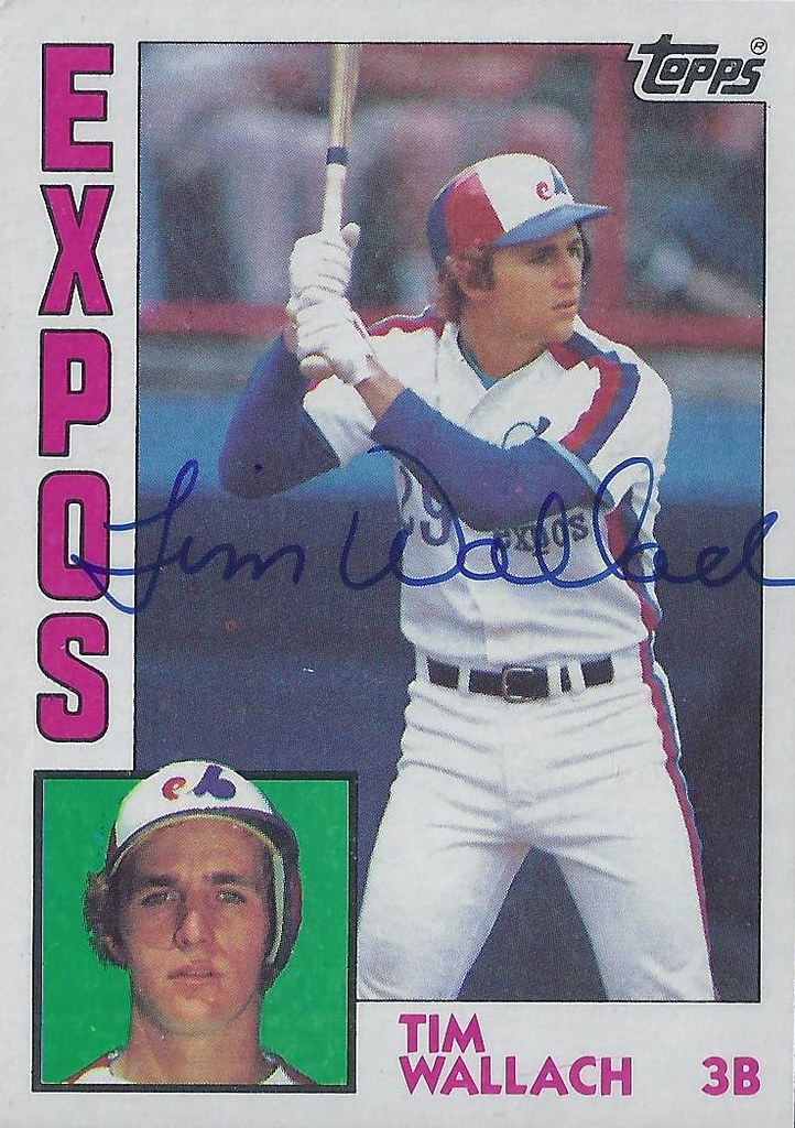 1984 Topps Tim Wallach 232 Third Base Autographed B